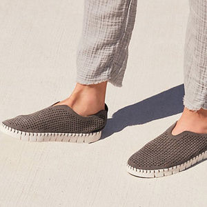 JEFFREY CAMPBELL Perforated Suede Slip On Shoes